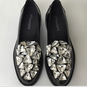 Jeffrey Campbell patent leather loafers